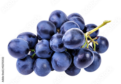 Fototapete grapes isolated on the white