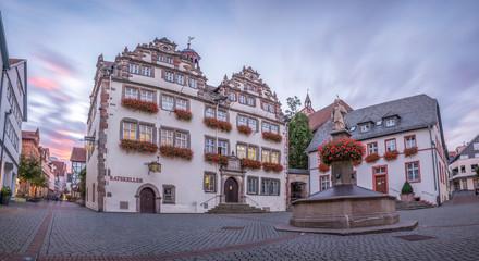 Bad Hersfeld, Panorama historische Altstadt mit Rathaus