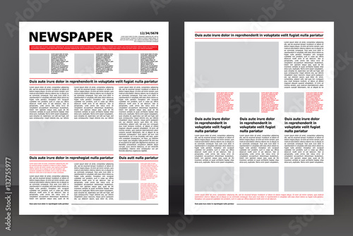 newspaper template layout print design with dark red and black elements vector pages stock image and royalty free vector files on fotoliacom pic