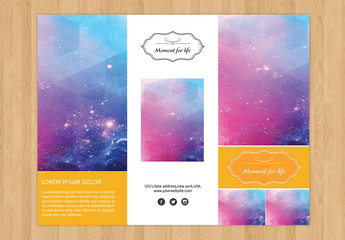 Trifold Grid Style Photography Brochure Layout
