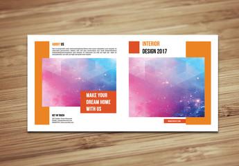 Square Single Fold Brochure Layout