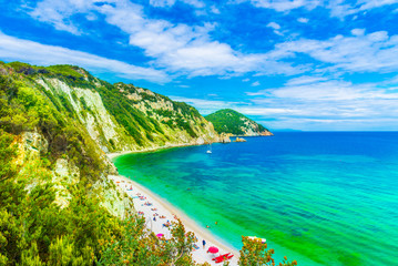 Wall Mural - Panoramic view of Sansone beach, Elba Island, Tuscany,Italy.