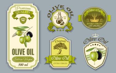 Oilve oil labels