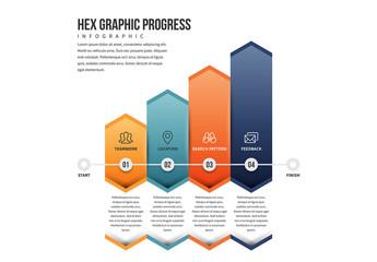 Hexagonal Progress Bars Infographic 1