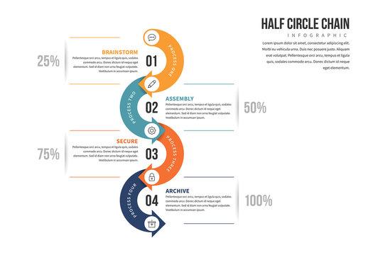 Half Circle Chain Infographic 1