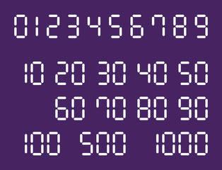 digital numbers round vector