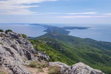 Ausblick vom Televrino, Berg bei Nerezine Kroatien