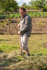 Farmer at work in his field