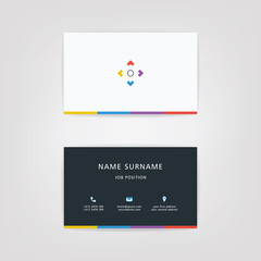 O Simple Id Card With Alphabet Logo or Icon For Your Business