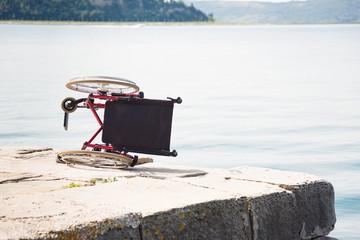 Wheelchair On Pier