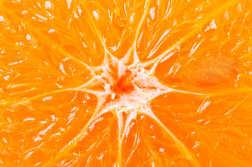 Orange background from slice of an orange. Wall mural