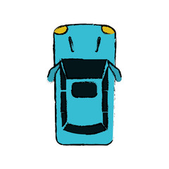 drawing car parking top view vector illustration eps 10