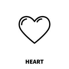 Heart icon or logo in modern line style.