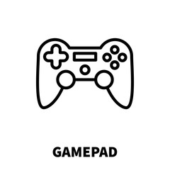 Gamepad icon or logo in modern line style.