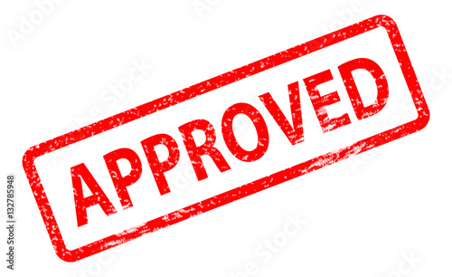 Approved Stamp On White Background Approved Stamp Sign