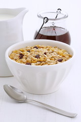 Delicious muesli breakfast