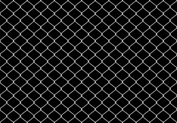 Metallic Wired Fence Seamless Pattern