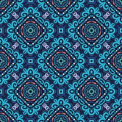 Flower Pattern Blue Curves
