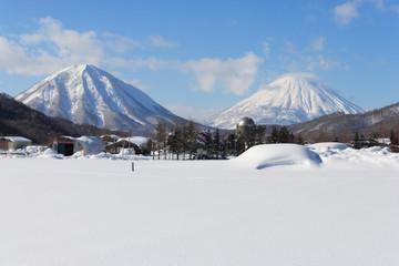 冬の羊蹄山麓