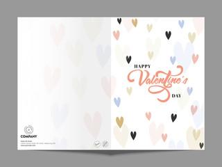 Greeting Card for Valentine's Day celebration.