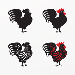 Collection of chickens icon. Vector Illustration of Rooster, Hen, Chick. graphic inspire to drive your project.