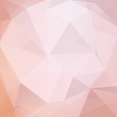 Background made of pastel pink triangles. Square composition with geometric shapes. Eps 10