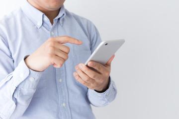 男性 スマートフォン