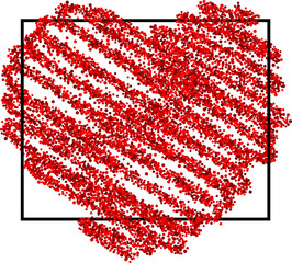 Fototapete - Valentine's love background with heart.