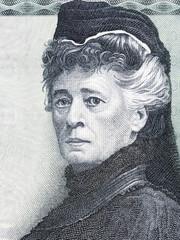 Bertha von Suttner portrait from Austrian money