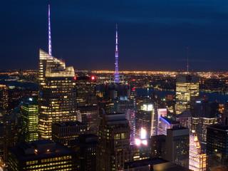 Manhattan skyscrapers night scape