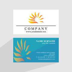 shine flower business card logo