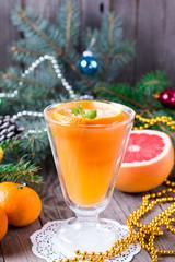 Winter drink with oranges