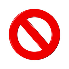 No Sign isolated on white background
