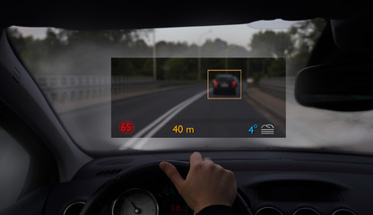 car with modern display for easy visibility