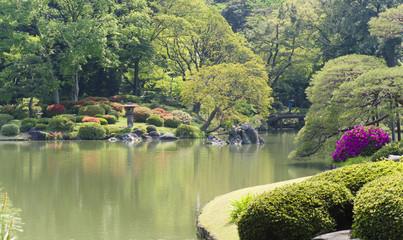 Japanischer Garten, (Tokio, Rikugi-en Garden)