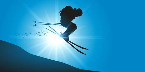 Ski extrême - free style - skieur - sport extrême