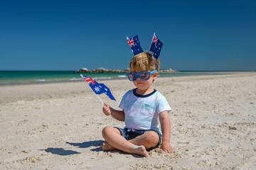 Cute kid on Australia day