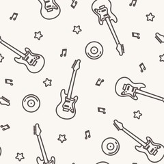 Vector music pattern with guitars.