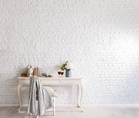 brick wall with beautiful styling concept