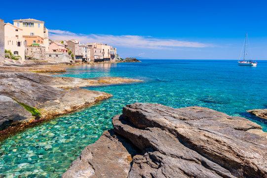 Coastline of Erbalunga Corsica