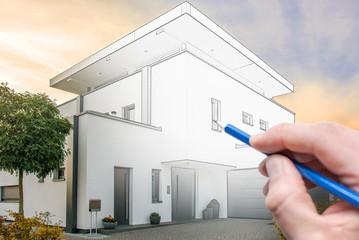 Das Traumhaus malen
