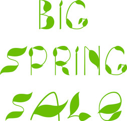 Spring sale text design template
