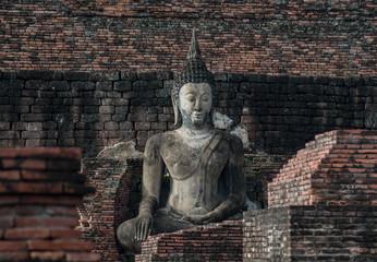 Buddha statue at Wat Mahathat Sukhothai Thailand