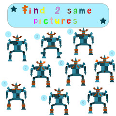 "Children Logic develops an educational game ""Find 2 same picture"