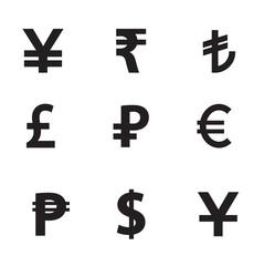 Money vector icon set.