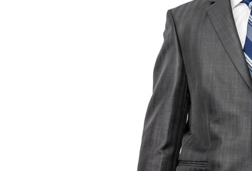 business suit isolated on white .