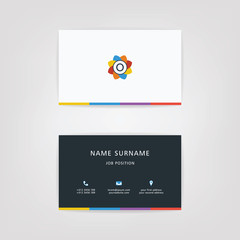 O Simple Alphabet Business Card Using For Business or personal
