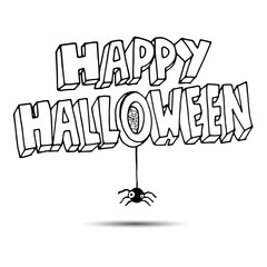 spider vector halloween horror nature black illustration