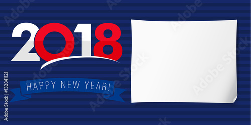 happy new year banner 2018 design invitation of happy new year 2018 vector background template