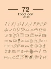 72 Food line icon design.